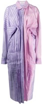 Nina Ricci colour block pleated shirt dress