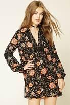Forever 21 Floral Self-Tie Shift Dress