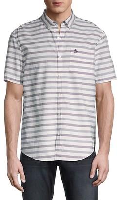 Original Penguin Striped Short-Sleeve Shirt