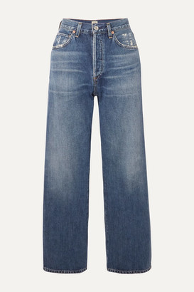 Citizens of Humanity Joanna Cropped Mid-rise Straight-leg Jeans - Mid denim