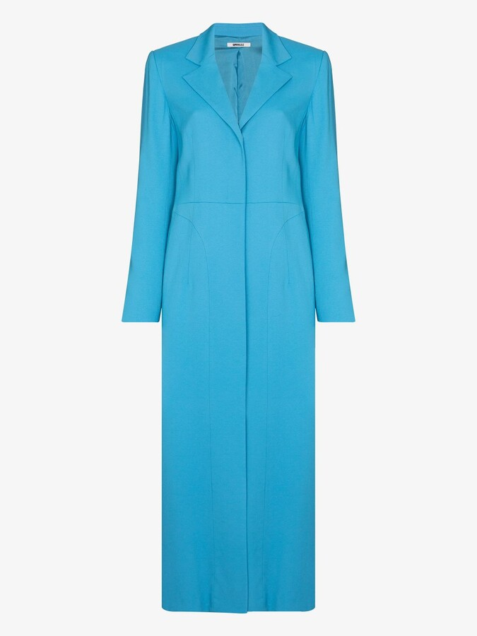 Thumbnail for your product : Supriya Lele Blue Single-Breasted Tailored Coat