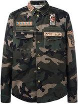 Valentino cigar-box appliqué camouflage field jacket - men - Cotton - 50