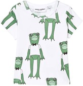 Mini Rodini Frog Print Tee In Green