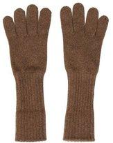 Chanel Brown Cashmere Gloves