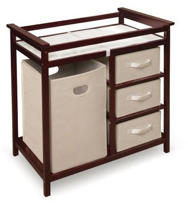 Badger Basket Modern Changing Table - Cherry