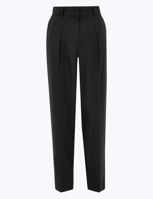 Marks and Spencer Wool Silk Slim Tapered Trousers