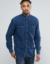 Pepe Jeans Pepe Jaquard Double Face Denim Slim Fit Shirt