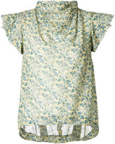 08sircus floral print top - women - Cotton/Cupro - 36