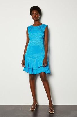 Karen Millen Animal Jacquard Short Dress