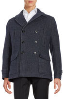 Hardy Amies Wool-Blend Notched Collar Peacoat