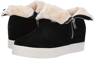 Steve Madden Wanda Wedge Sneaker (Black Suede) Women's Wedge Shoes
