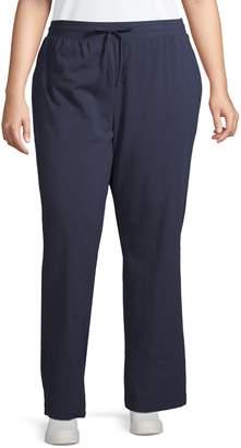 Karen Scott Plus Stretch Drawstring Pants
