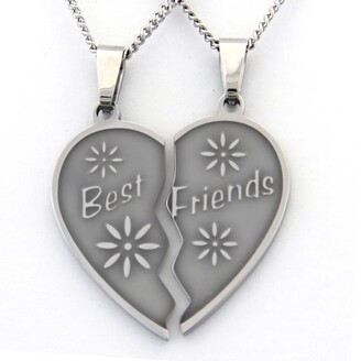 Rush Best Friends Two-piece Heart Necklace