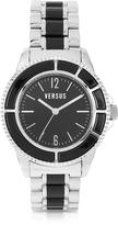 Versace Versus Tokyo Crystal 42 Stainless Steel and Black Unisex Watch