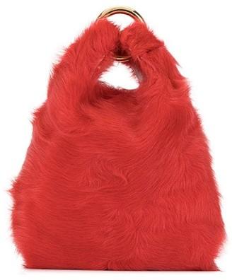 Simonetta Ravizza Chain Faux Fur Mini Bag