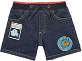 Kenzo Badge-Appliquéd Cotton-Blend French Terry Shorts