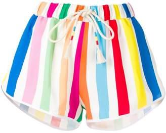Mira Mikati rainbow striped shorts