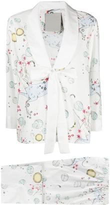 Seen Users Sagittarius-motif two-piece suit