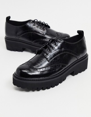 Raid Evon chunky brogues in black