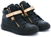 Giuseppe Junior - Nicki hi-top sneakers - kids - Leather/rubber - 26