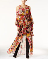 INC International Concepts Cold-Shoulder Printed Maxi Dress, Only at Macy's