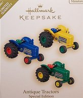 Hallmark 2007 Antique Tractors Limited Quantity Special Edition 3 Miniature Ornaments