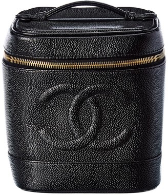 Chanel Black Caviar Leather Vanity Bag