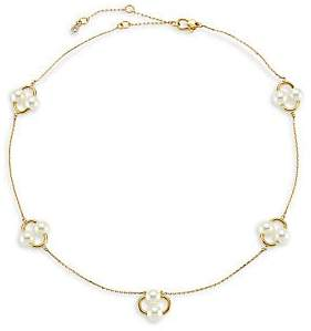 Kate Spade Women's Nouveau 12K Yellow Goldplated & Imitation Pearl Necklace