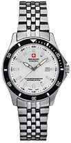 Swiss Military Women's Quartz Watch with White Dial Analogue Display and Silver Stainless Steel Bracelet 6-7161.04.001.07