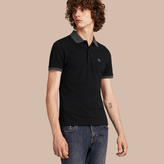 Burberry Contrast Colour Detail Cotton Piqué Polo Shirt