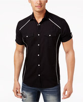 INC International Concepts Men's Contrast Trim Cotton Shirt, Only at Macy's