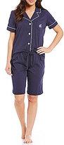 Lauren Ralph Lauren Short-Sleeve Bermuda Pajama Set