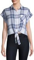 Rails Amelie Front-Tie Plaid Shirt
