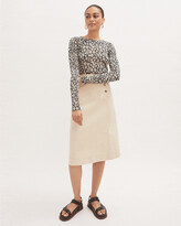 Thumbnail for your product : Jigsaw Denim Side Button Midi Skirt