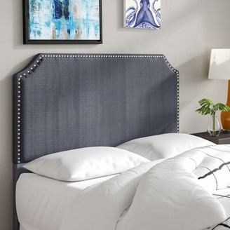 Three Posts Hillary Upholstered Panel Headboard Size: Full / Queen, Upholstery: Graphite