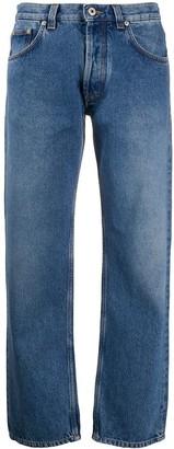 Loewe flower embroidery jeans