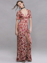 For Love & Lemons Saffron Maxi Dress in Sunset Floral