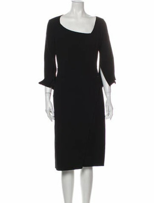 Oscar de la Renta 2017 Midi Length Dress Wool