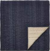Clarissa Hulse Indigo patchwork throw 150x200cm indigo