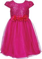 Sweet Heart Rose Girls Dress, Little Girls Sequin Tulle Dress