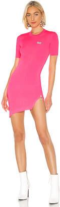 GCDS Fluorescent Asymmetrical Zip Dress