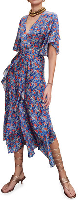 Alexis Alleria Printed Chiffon Midi Dress