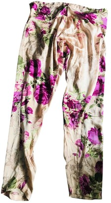 Adriana Iglesias Multicolour Silk Trousers for Women