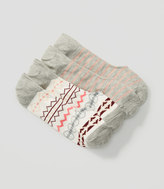 LOFT Fairisle and Stripe No Show Sock Set