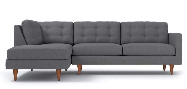 Admirable Microfiber Sectional Sofa With Chaise Shopstyle Machost Co Dining Chair Design Ideas Machostcouk