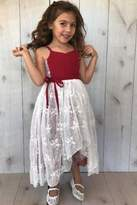 Magpie and Mabel Red Lace Dress