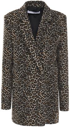 IRO Experience Shadow Brushed Leopard-jacquard Blazer
