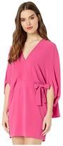 Halston Draped Sleeve Dress (Azalea) Women's Dress
