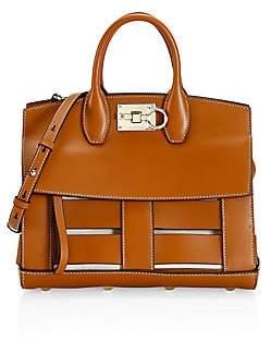 Salvatore Ferragamo Women's Small Studio Cage Leather Top Handle Bag