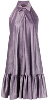 Talbot Runhof satin corduroy dress